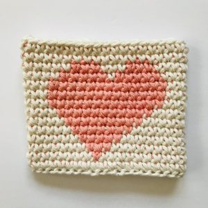 tapestry crochet in the round with sc