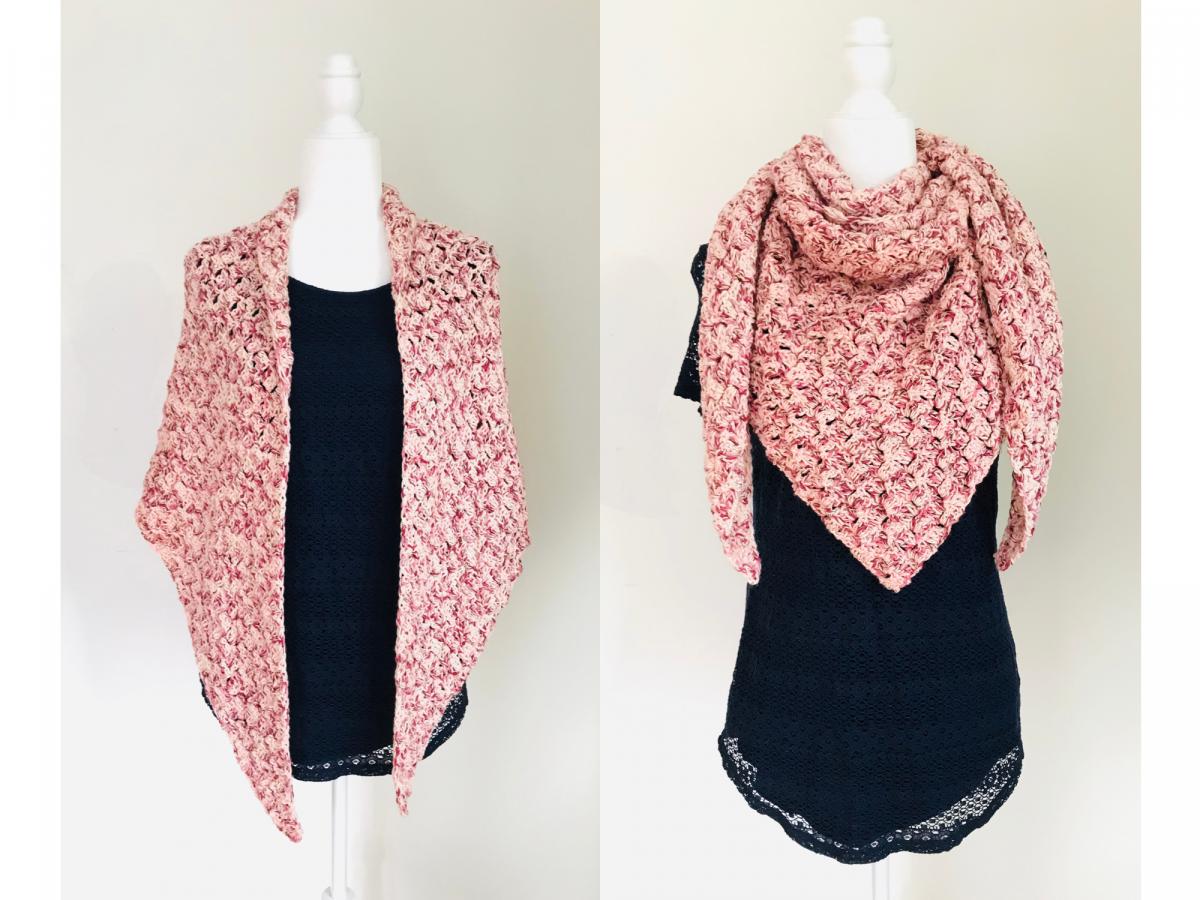Comfy Cotton Shawl – Free Crochet Pattern
