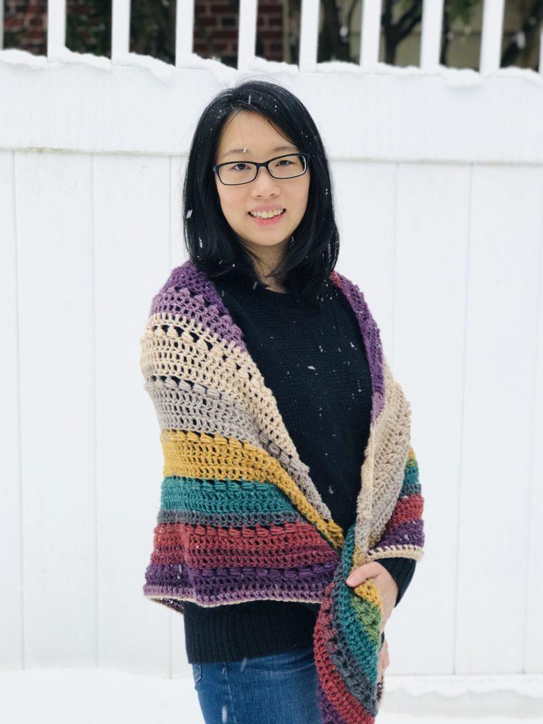 Wrapping Hugs Shawl - Free Crochet Pattern by Haven Crochet Designs