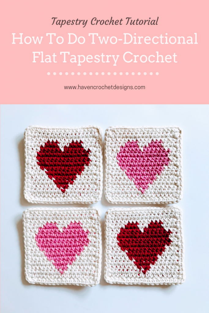 how to do two-directional flat tapestry crochet