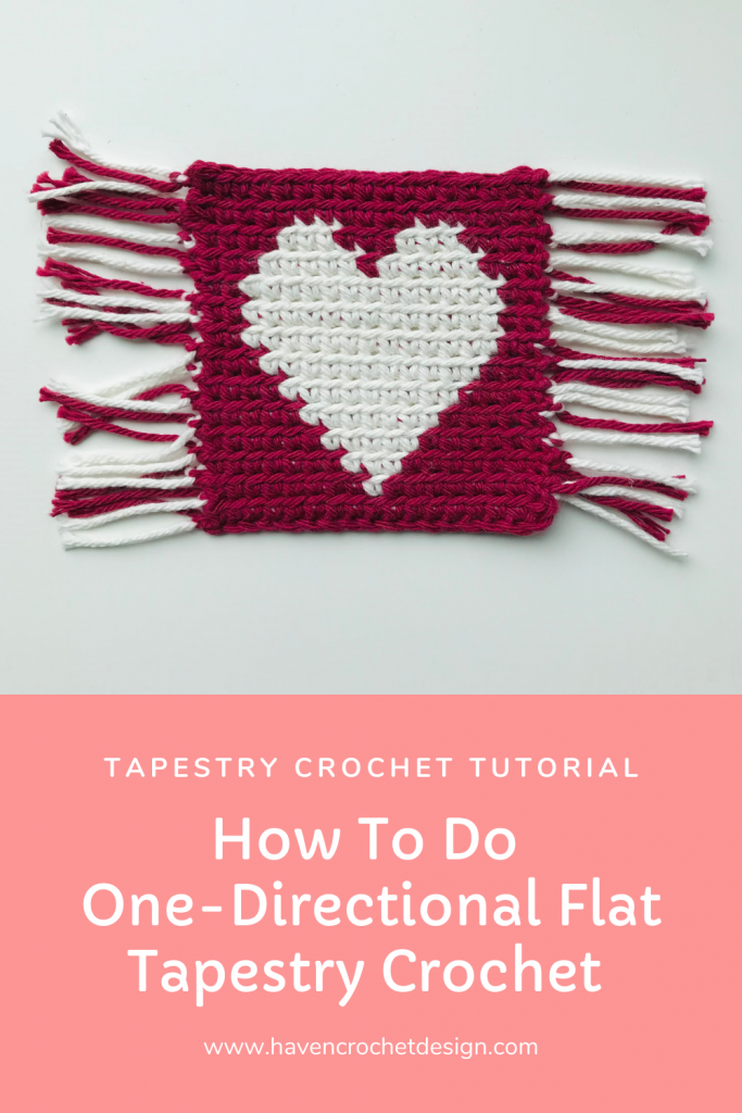 how to do one-directional flat tapestry crochet pinterest pin